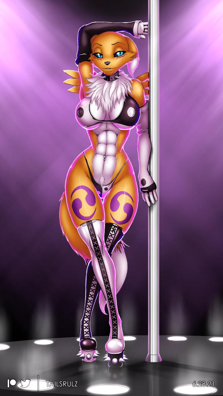Poledancer Renamon